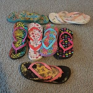 Other - Girl's flip-flop bundle 7 pairs for the price of 1